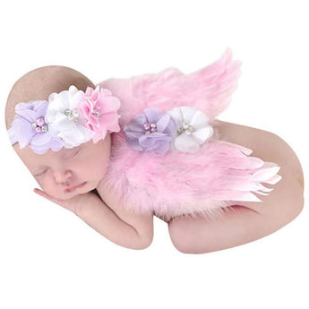 Floral Angel Wings & Headband
