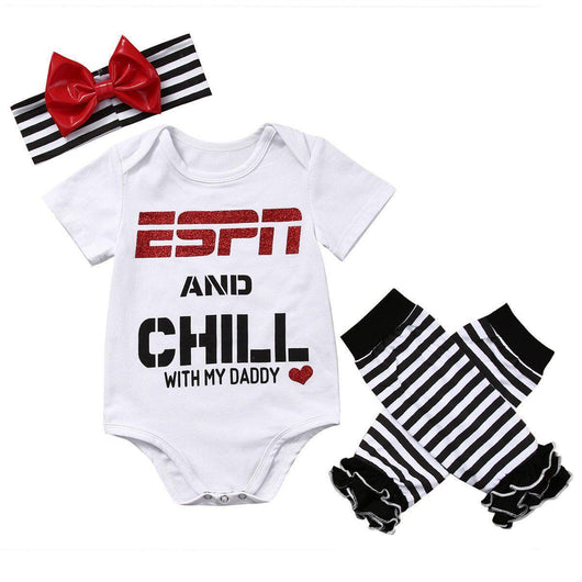 ESPN and Chill Romper, Leg Warmers & Headband