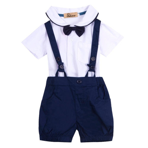 Bow Tie Top & Suspender Shorts
