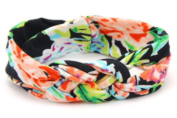 Black Hawaiian Floral Headband