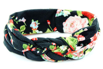 Black Rose Floral Headband
