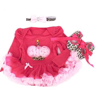 Cupcake Birthday Tutu Dress, Headband and Shoes