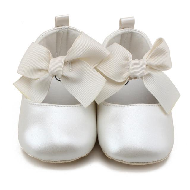 Bow Top Crib Shoes