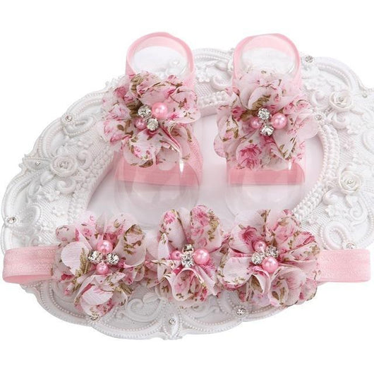 Speckled Rose Headband & Barefoot Sandals