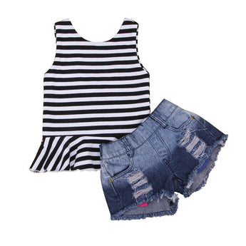 Stripe Tank & Shorts Set