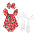 Watermelon Romper Bundle Set