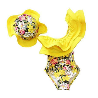 Floral Swimsuit Yellow / 12M
