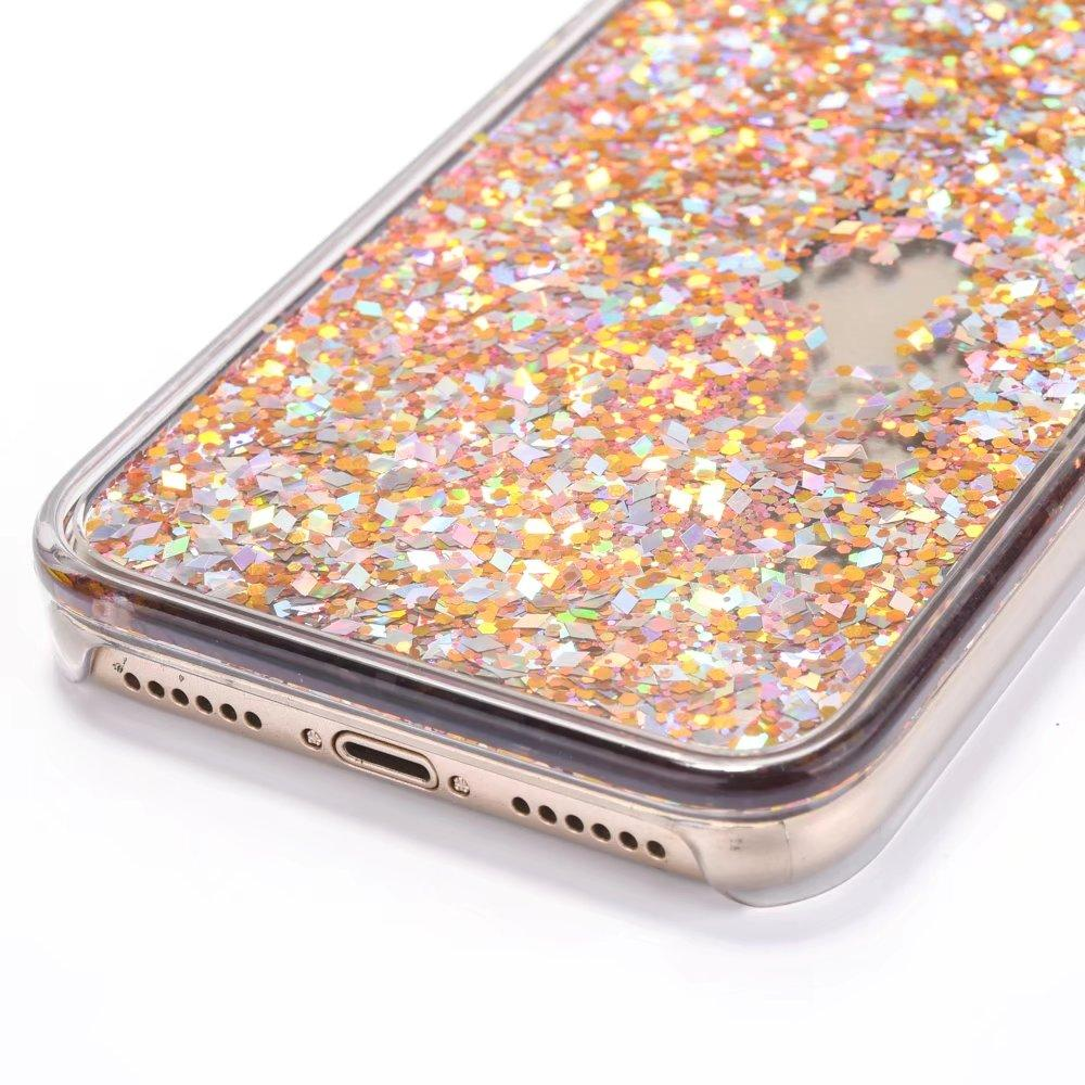 buy online 496be 0137d Iphone Rose Gold Tone Liquid Filled Glitter Phone Case - All Models