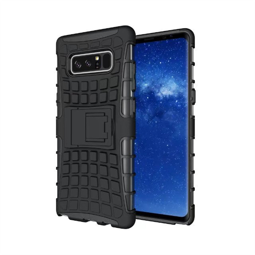 factory price cf3af 7b16a Samsung Heavy Duty Armor Shockproof Black Rubber Phone Case - All Models