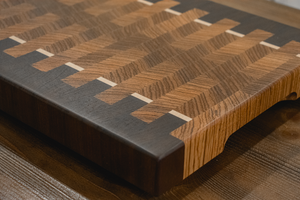 End Grain - Zebrawood / Walnut / Maple