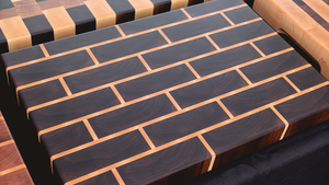 End Grain - Walnut / Maple - Brick Pattern