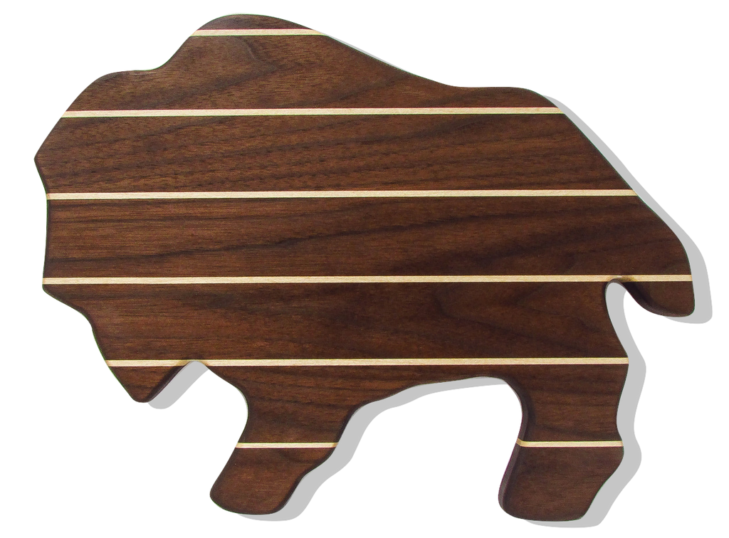 Buffalo Cutting Board in Walnut w/ Maple Accents
