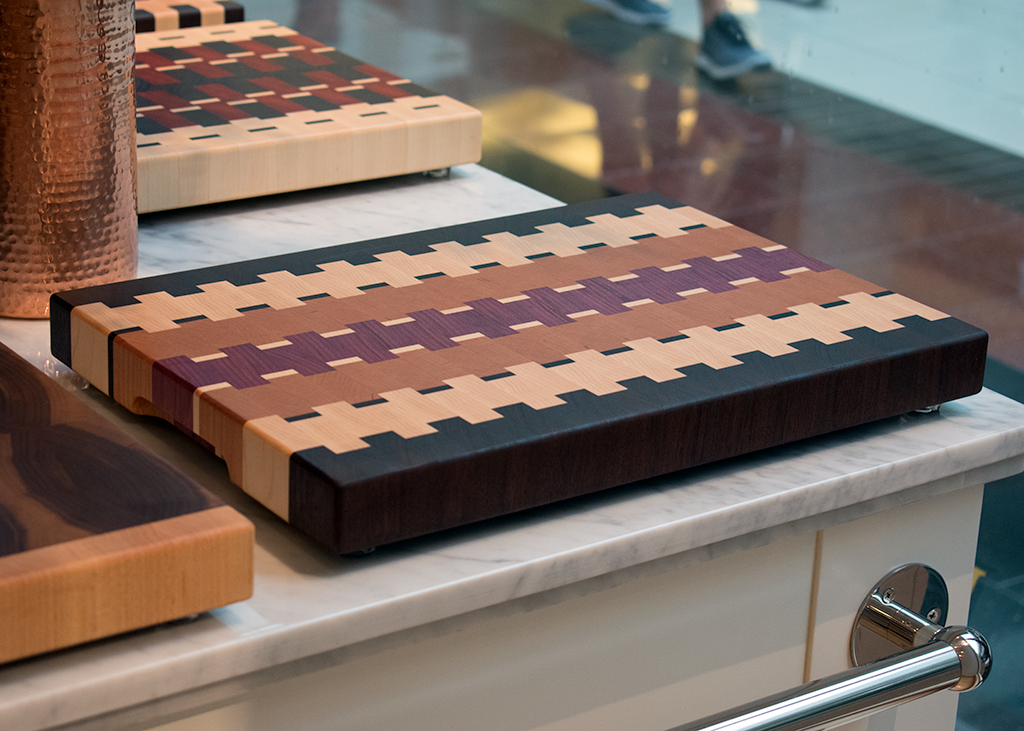 End Grain -  Purple Heart / Cherry / Walnut / Maple.