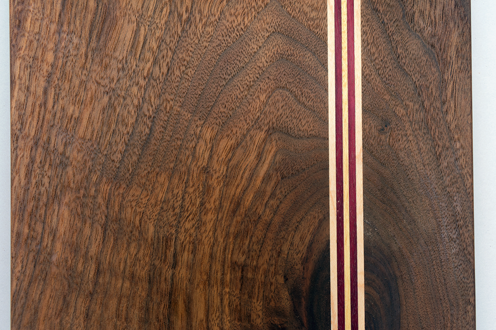 Offset Angle Serving Board - Walnut / Purple Heart / Maple