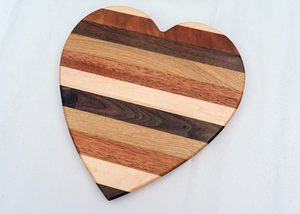 Heart Shape Cutting Board - Various Hardwoods