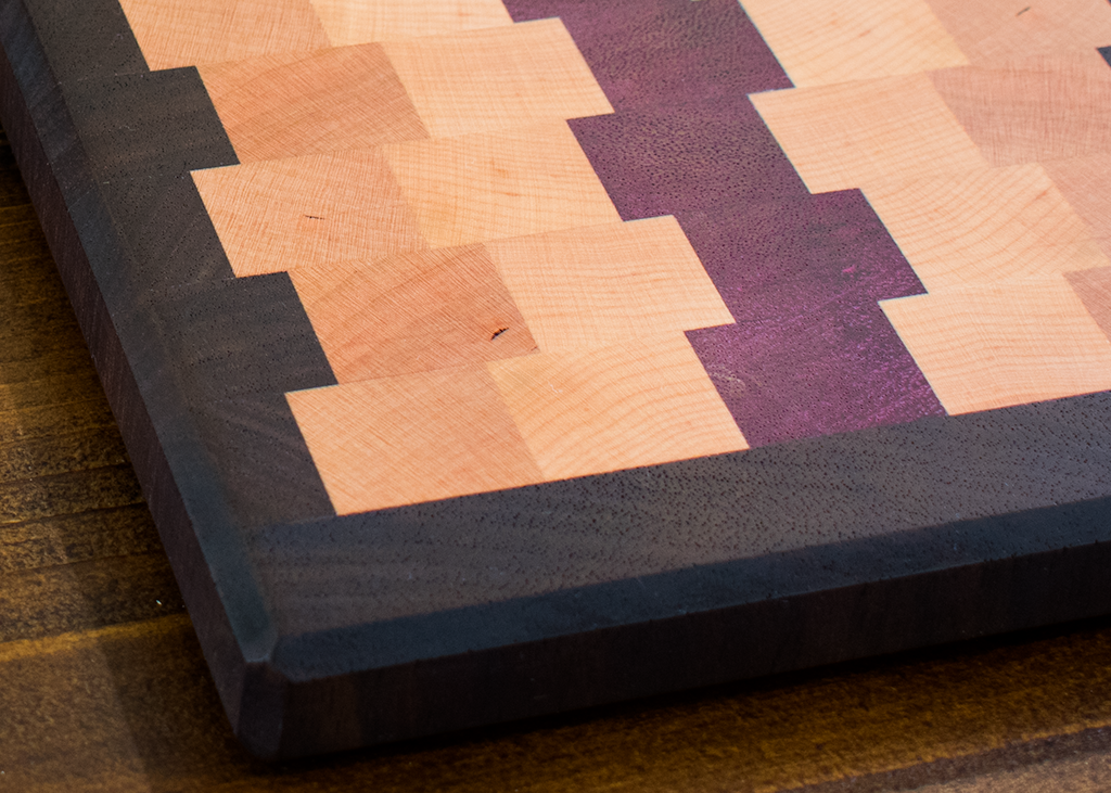 Mini End Grain Board - Walnut / Cherry / Maple / Purple Heart