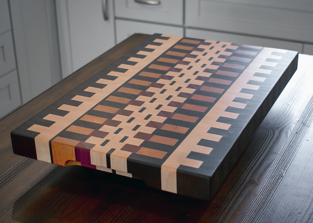 End Grain - Purple Heart / Maple / Walnut / Cherry