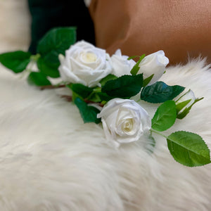 White Rose Spray - Single Stem