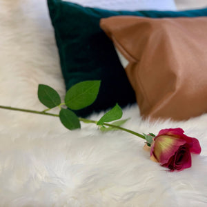 Real Touch Fuschia Rose - Single Stem