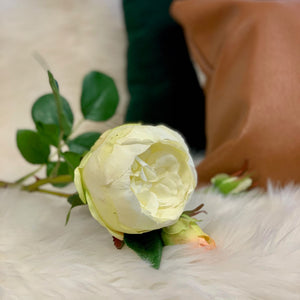 Real Touch White Peony - Single Stem