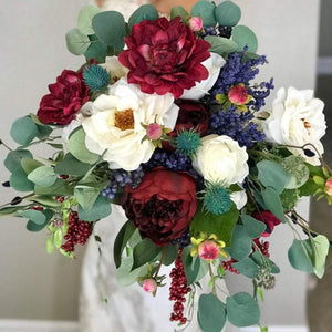 Wildflower Bohemian Bridal Bouquet - Faux Flowers