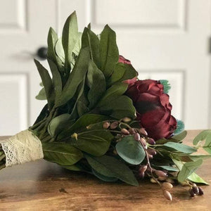 Dark and Moody Bridal Bouquet - Faux Flowers