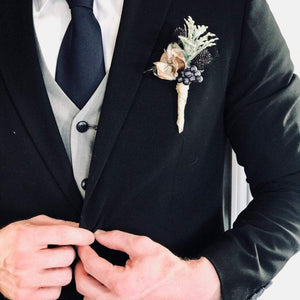 Magnolia Holiday Boutonniere