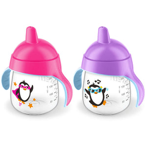 PHILIPS AVENT My Little Sippy Cup 9oz - Hard Spout 2 pack - PinkiBlue