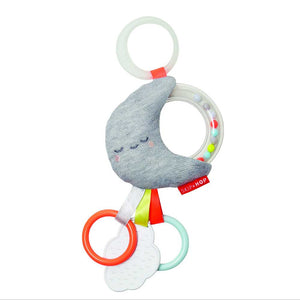 SKIP HOP Silver Lining Cloud Rattle Moon Stroller Baby Toy - PinkiBlue