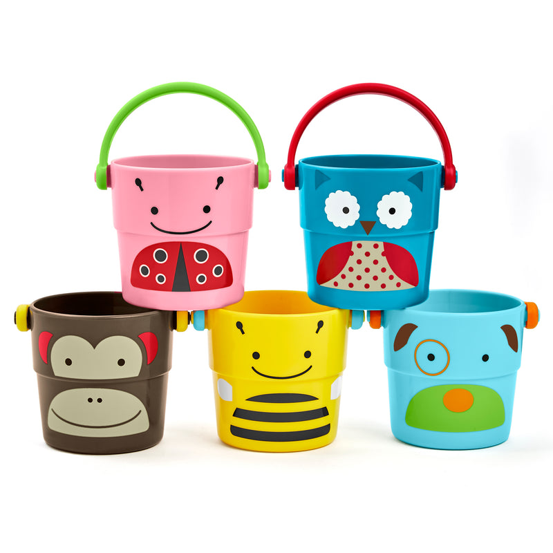 Skip Hop - SKIP HOP Zoo Bath Stack & Pour Buckets - Available at Boutique PinkiBlue