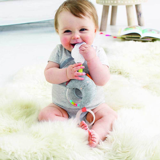 Skip Hop - SKIP HOP Silver Lining Cloud Rattle Moon Stroller Baby Toy - Available at Boutique PinkiBlue