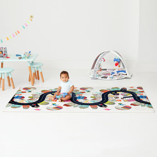 Skip Hop - SKIPHOP DoublePlay  Reversible Playmat - Vibrant Village - Available at Boutique PinkiBlue