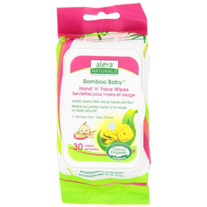ALEVA NATURALS Bamboo Baby Hand and Face Wipes 30pk - PinkiBlue
