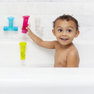 BOON Pipes Building Bath Toy Set - PinkiBlue