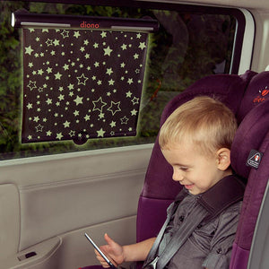 DIONO Starry Night Roll Down Sun Shade - PinkiBlue