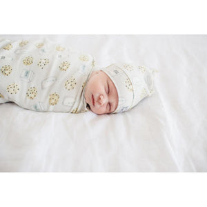 COPPER PEARL Swaddle Blanket - PinkiBlue