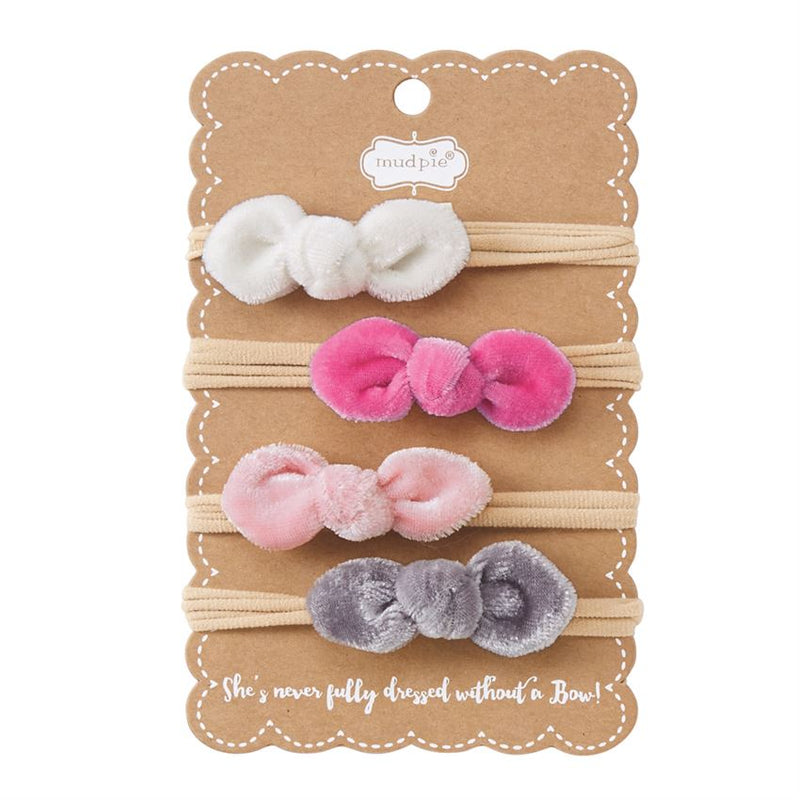 MUDPIE - Mini Velvet Bow Headband Set