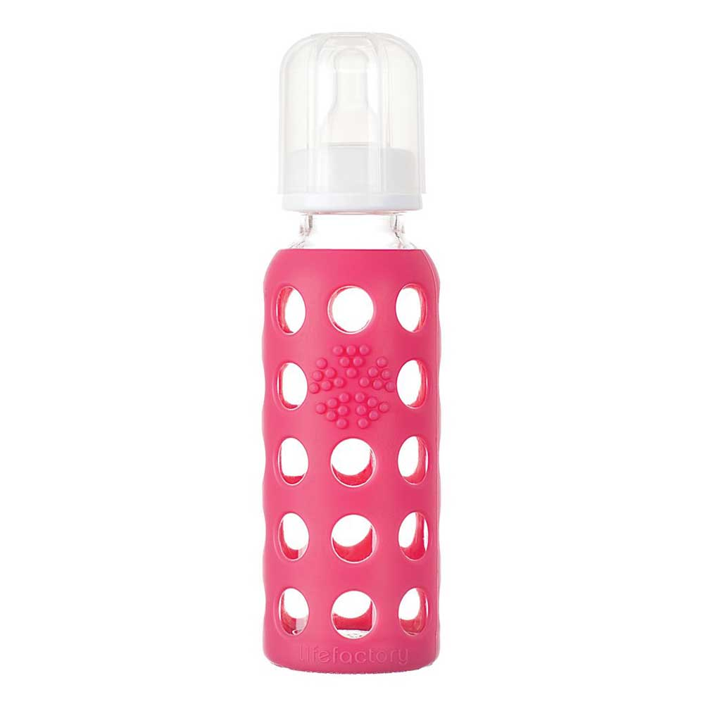 Lifefactory - LIFEFACTORY 9oz Glass Baby Bottle with Silicone Sleeve - Available at Boutique PinkiBlue