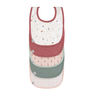 LASSIG Garden Explorer Value Pack Bibs - Snail - PinkiBlue