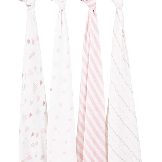 Aden and Anais - ADEN AND ANAIS Classic Swaddles 4-pack - Available at Boutique PinkiBlue