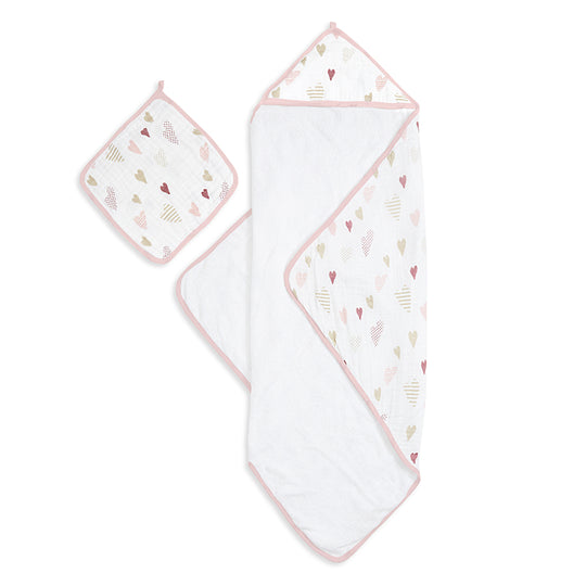 Aden and Anais - ADEN AND ANAIS Hooded Towel Set - Available at Boutique PinkiBlue