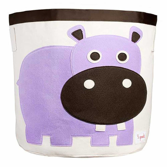 3 Sprouts storage bin hippo/purple