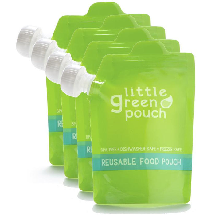 LITTLE GREEN POUCH Reusable Pouch - 4 Pack (7oz)