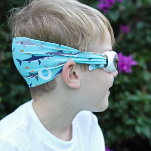 SPLASH Swim Goggles - Shark Attack - PinkiBlue