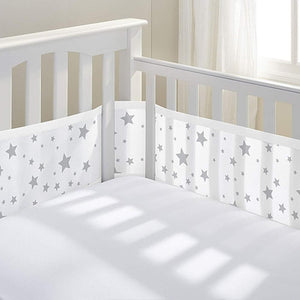 BREATHABLEBABY Breathable Crib Bumper - PinkiBlue