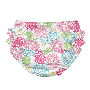 IPLAY Reusable Snap Swim Diaper - White Zinnia - PinkiBlue