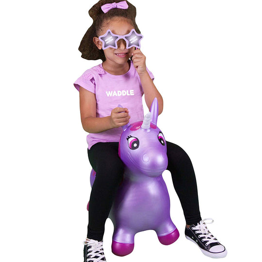 WADDLE Bouncy - Purple Starshine Unicorn