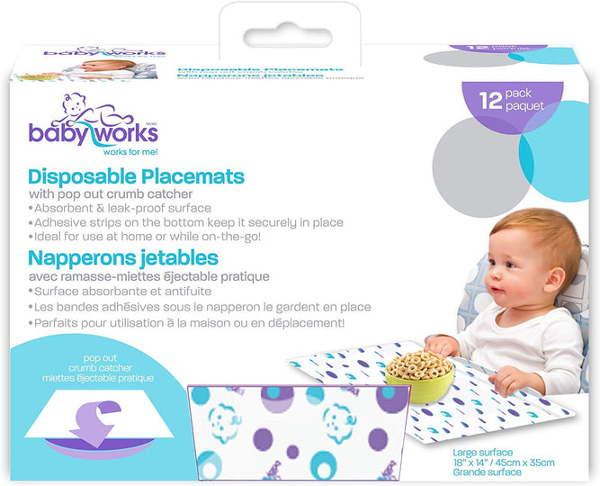 BABY WORKS Disposable Placemats