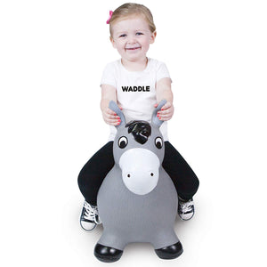 WADDLE Bouncy - Lucky The Grey Horse - PinkiBlue