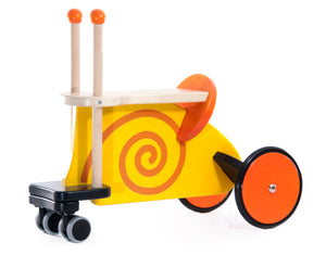 BAJO Wooded Toys Snail Ride On - PinkiBlue